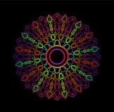 mandala Ornamento redondo decorativo Modelo antiesfuerzo de la terapia Imágenes de archivo libres de regalías
