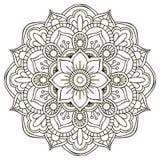 mandala Ornamento rotondo illustrazione vettoriale