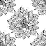 mandala Ornamento rotondo in bianco e nero Illustrazione di vettore Fotografia Stock Libera da Diritti