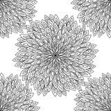 mandala Ornamento rotondo in bianco e nero Illustrazione di vettore Fotografie Stock Libere da Diritti