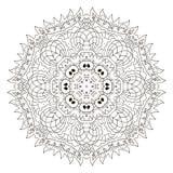 mandala Ornamento rotondo di Zentangl distendasi illustrazione vettoriale