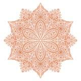 mandala Ornement floral indien rouge Photo libre de droits