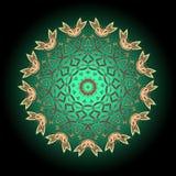 mandala Ornement rond décoratif modèle de thérapie d'Anti-effort illustration libre de droits