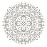mandala Ornement rond de Zentangl détendez illustration de vecteur