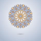 Mandala ornemental bleu Photographie stock libre de droits