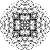 Mandala ornemental Tiré par la main illustration libre de droits