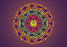 Mandala Over The Floral Background ilustração royalty free