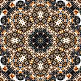Mandala over gray background. Seamless ornate Royalty Free Stock Images