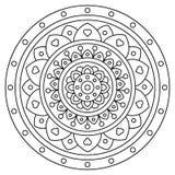 mandala Página que colorea Ilustración del vector Fotografía de archivo