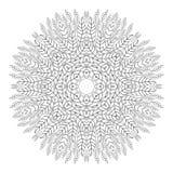 mandala Páginas antiesfuerzas del colorante para los adultos Modelo circular monocromático de oriental del cordón libre illustration
