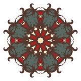 Mandala på bakgrund Royaltyfria Bilder