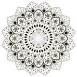 Mandala på bakgrund Arkivbild