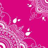 Mandala på en rosa bakgrund royaltyfri illustrationer