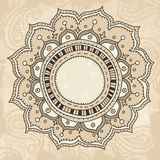 Mandala på tappningbakgrund Royaltyfri Fotografi