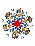 Mandala på vit bakgrund Royaltyfri Fotografi