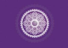 Mandala púrpura Imagen de archivo
