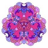 mandala Púrpura-rosada en el fondo blanco Imagen de archivo libre de regalías