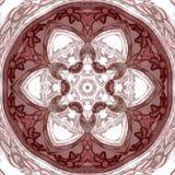 Mandala płytka z koronkowym brown kalejdoskopem ilustracji