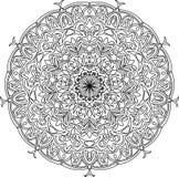 Mandala, page adulte de coloration Illustration de vecteur Mandala d'isolement Images stock