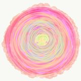 Mandala painted with watercolor. Stock Images