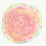 Mandala painted with watercolor. Stock Image