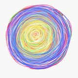 Mandala painted with watercolor. Royalty Free Stock Photography