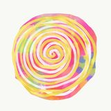 Mandala painted with watercolor. Royalty Free Stock Images