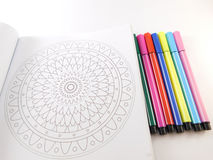 Mandala for painting and fibers. Stock Images
