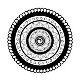 Mandala For Painting-illustratie op witte achtergrond Royalty-vrije Stock Fotografie