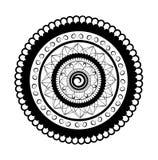 Mandala For Painting-Illustration auf weißem Hintergrund Lizenzfreie Stockfotografie