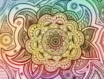 Mandala Paisley. Hand drawn colorful mandala paisley Stock Image