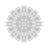 Mandala para crianças com abelhas Imagem de Stock Royalty Free