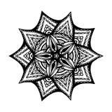 Mandala para el libro de colorear Forma inusual de la flor Ornamentos redondos decorativos, modelo antiesfuerzo de la terapia Dis stock de ilustración