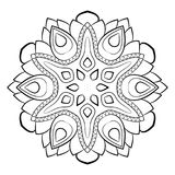 Mandala para el libro del color Ejemplo monocromático Palmadita simétrica Foto de archivo libre de regalías