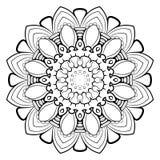 Mandala para el libro del color Un modelo en el círculo Ejemplo FO Imagen de archivo libre de regalías