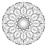 Mandala para el libro del color Un modelo en el círculo Ejemplo FO Imágenes de archivo libres de regalías