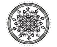 Mandala para a hena, Mehndi, tatuagem, decoração ilustração royalty free