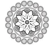 Mandala para la alheña, Mehndi, tatuaje, decoración ilustración del vector