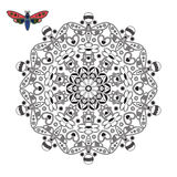Mandala para la creatividad de los niños Imágenes de archivo libres de regalías