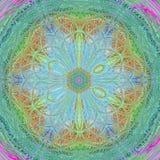 Mandala pastel decorativa redonda no estilo étnico ilustração royalty free