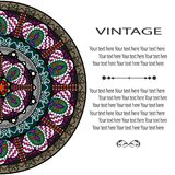 Mandala Pattern Fotografia Stock Libera da Diritti