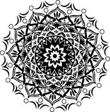 Mandala pattern. Beautiful Indian circle ornament, mandala pattern Stock Photography