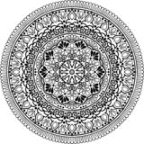 Mandala pattern black and white Royalty Free Stock Photo