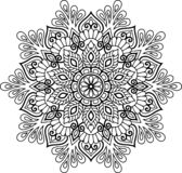 Mandala pattern black and white Stock Image