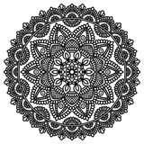Mandala pattern black and white Royalty Free Stock Images