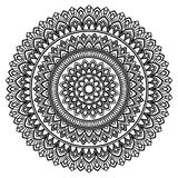 Mandala pattern black and white Stock Images