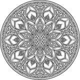 Mandala pattern black and white Royalty Free Stock Photography