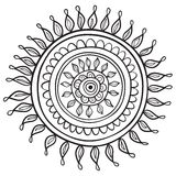 Mandala pattern. Black and white isolated in Stock Photography
