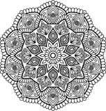 Mandala pattern black and white Royalty Free Stock Image