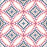Mandala Pattern Blue Background complessa Fotografia Stock Libera da Diritti